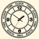 Wall mounted digital clock. Stock Photos