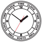 Wall mounted digital clock. Stock Images
