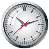 Wall mounted digital clock. Royalty Free Stock Photo