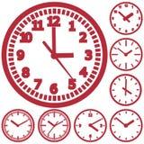 Wall mounted digital clock Stock Image