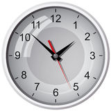 Wall mounted digital clock Royalty Free Stock Photography
