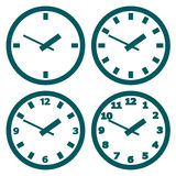 Wall mounted digital clock Royalty Free Stock Image