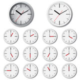 Wall mounted digital clock Royalty Free Stock Photo