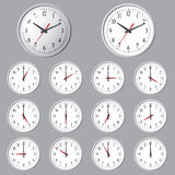 Wall mounted digital clock Stock Photos