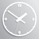Wall mounted digital clock. Stock Photos