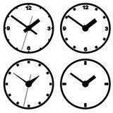 Wall mounted digital clock. Royalty Free Stock Images