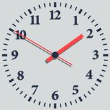 Wall mounted digital clock. Royalty Free Stock Photo