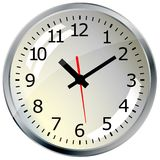 Wall mounted digital clock. Stock Image