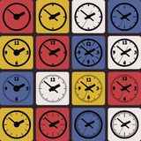 Wall mounted digital clock. Royalty Free Stock Photography