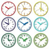 Wall mounted digital clock. Royalty Free Stock Image