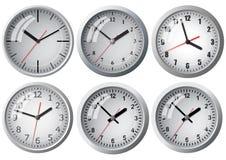 Wall mounted digital clock. Royalty Free Stock Image