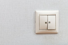 Wall-mounted light switch Stock Photography