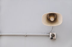 Wall-Mounted Loudspeaker Royalty Free Stock Image