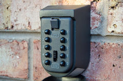 Wall Mounted Outside Key Safe Royalty Free Stock Photography