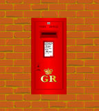 Wall Mounted Post Box Stock Photography