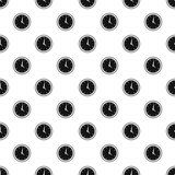 Wall mounted round mechanical watch pattern Royalty Free Stock Photos