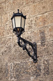 Wall mounted street lamp. Royalty Free Stock Image