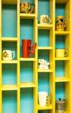 A wall of Mugs Stock Image
