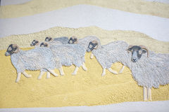 Wall mural of flock of sheep Royalty Free Stock Photo