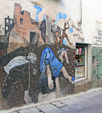 Wall Mural in Orgosolo, Sardinia Royalty Free Stock Photo