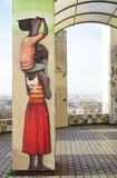 Wall mural paintings by famous French street artist Seth Globepainter (Julien Malland) at the Parc de Belleville in Paris Stock Image