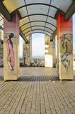 Wall mural paintings by famous French street artist Seth Globepainter (Julien Malland) at the Parc de Belleville in Paris Royalty Free Stock Photos