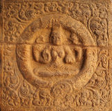 Wall mural of a sitting deity Royalty Free Stock Photos
