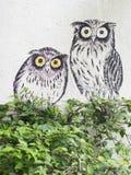 Wall mural street art, Penang Royalty Free Stock Photo