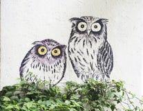 Wall mural street art, Penang Royalty Free Stock Photography