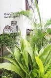 Wall mural street art, Penang Stock Images