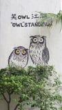 Wall mural street art, Penang Royalty Free Stock Images