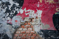 Wall with murals Stock Photos