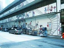 Wall Murals, Hongkong. Cute and interesting wall murals in Hongkong Royalty Free Stock Photos