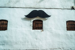 Wall with mustache Stock Images