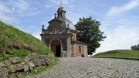 The Wall `Muur` of Geraardsbergen in Flanders, Belgium. The Wall is a monument in Flemish cycling history. The Wall has often been the decisive moment in the Stock Photo