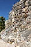 Wall of Mycenae, Greece Royalty Free Stock Photos