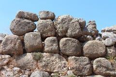 Wall of Mycenae, Greece Royalty Free Stock Photography