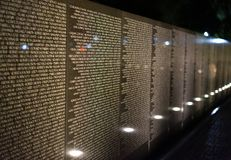 Wall of names and memories Royalty Free Stock Photo