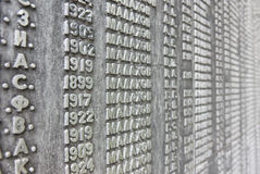 Wall of names Royalty Free Stock Image
