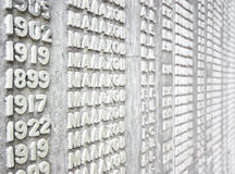 Wall of names Stock Image