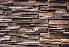 Wall of natural brown stone Stock Image