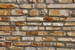 Wall of natural stone. The wall of natural stone - natural background Royalty Free Stock Image