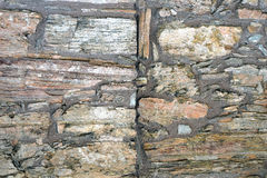 Wall of natural stone be Royalty Free Stock Photography