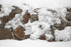 The wall of natural stone Royalty Free Stock Images