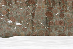 The wall of natural stone Stock Photos