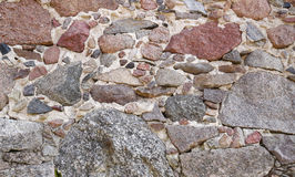 Wall of natural stone royalty free stock image