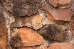 The wall of natural stone Stock Photo