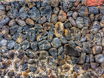 Wall of nature stones Royalty Free Stock Photography