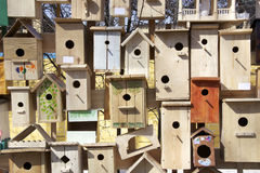 Wall of nest boxes Royalty Free Stock Photography