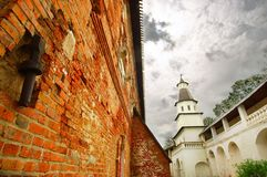 Wall in New Jerusalem monastery Royalty Free Stock Images